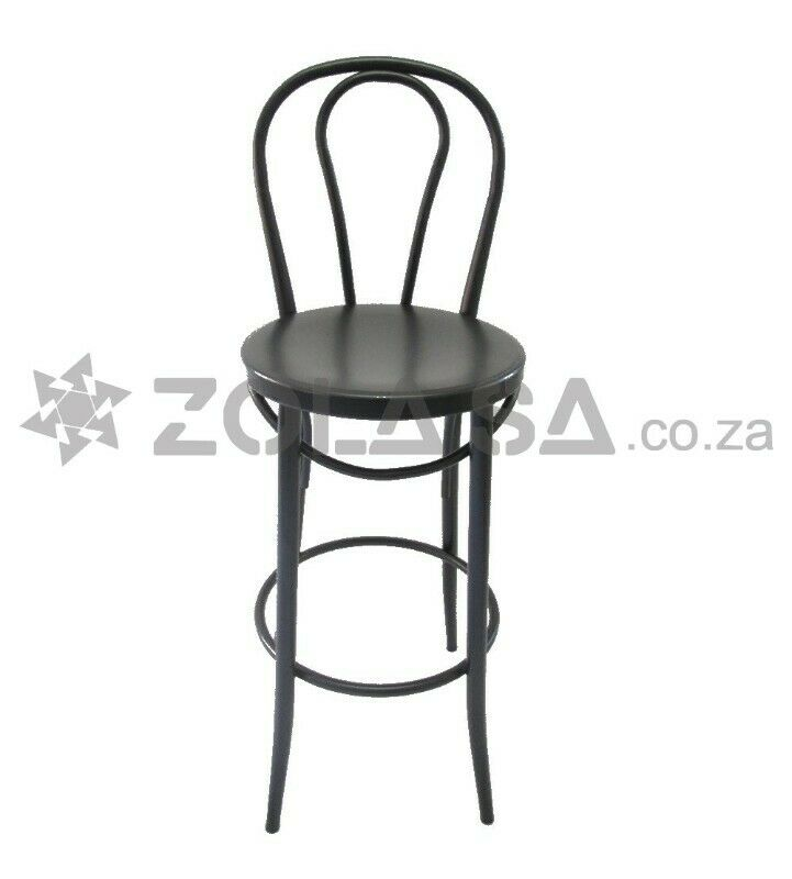 Bar Chair With Round Back - Black