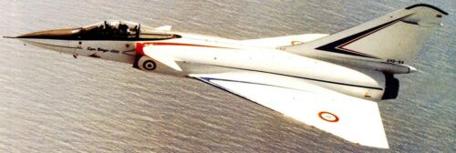 4000 Super Mirage Dassault Jet Fighter Airplane Mahogany Wood Model Large New
