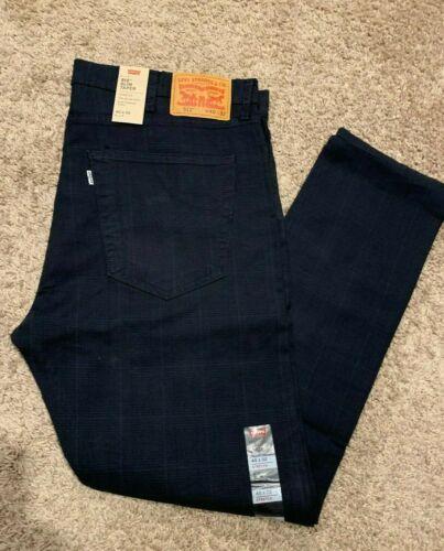 Levi/'s 512 slim TAPER Pantalon Stretch Bleu Foncé PLAID MEN/'S 40X32 rt$ 69 288330480