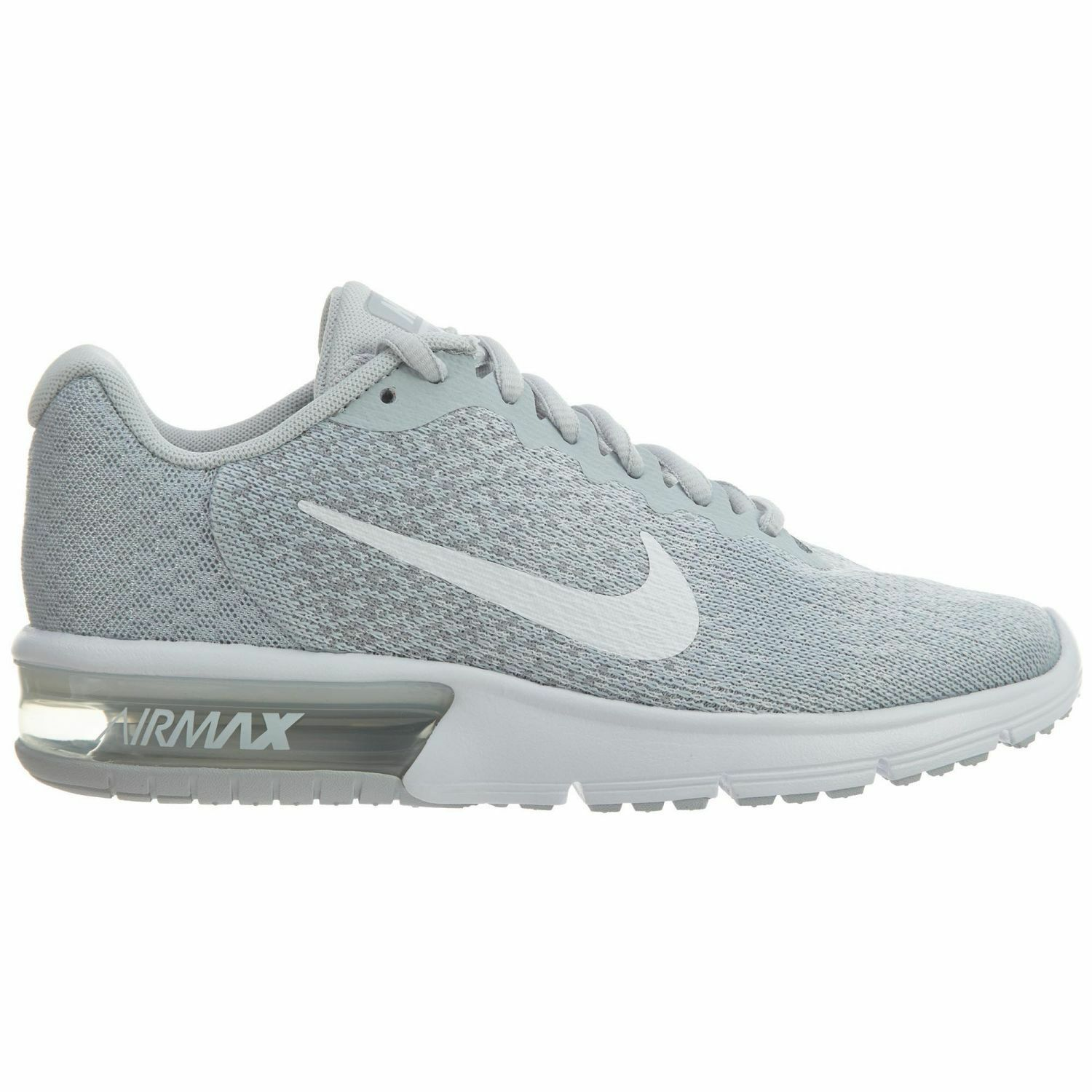 Nike Air Max Sequent 2 Womens 852465-007 Platinum Grey Running shoes Size 7