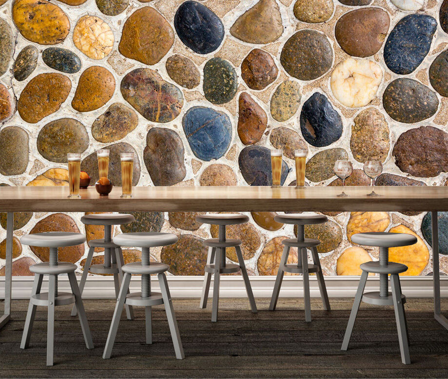3D stone pebble pebble pebble Texture Wall Paper Print Decal Wall Deco Indoor wall Mural 3500ac