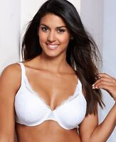 Sale Playtex Secrets Side Smoothing Embroidered Bra - 4513 White 36dd