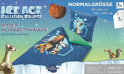 Ice Age Wendebetttwäsche Baumwolle M Reißverschluss 135 X 200 Cm SorgfäLtige FäRbeprozesse Bettwäschegarnituren Bettwäsche