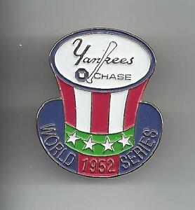 New York Yankees 1952 World Champions Pin Issued by Chase