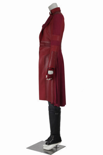 Captain America Scarlet Witch Cosplay Costume Custom Size Full Suit COS#Free shi