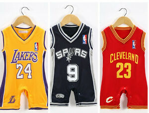 744668bc1be ... Baby-Infant-toddler-NBA-Jersey-Romper-Jumpsuit-Cleveland- ...