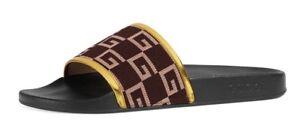 04cf14965c4 Gucci Men s Pursuit Square GG Slide Sandal Brown UK 8  US 9