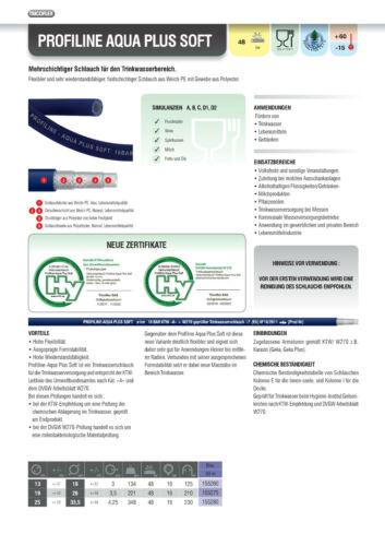 """Beheizter Trinkwasserschlauch Profiline Aqua Plus soft 3//4/"""""""