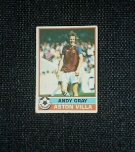RED BACK 1977 CHRIS NICHOLL TOPPS-FOOTBALL -#127- ASTON VILLA