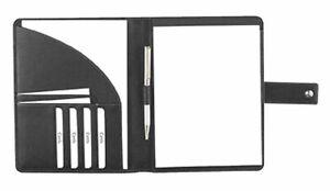 Felex-Lederschreibmappe-A5-Schreibmappe-Konferenzmappe-Vertretermappe-schwarz