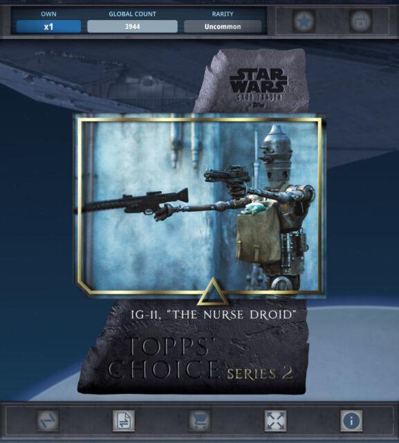 Topps Star Wars Card Trader - TOPPS CHOICE IG-11 *Digital
