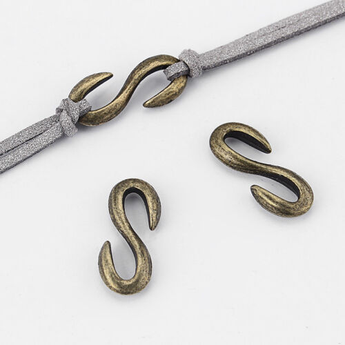 10pcs Silver//Bronze S Hook Clasp Jewelry Findings For Bracelet Necklace Making