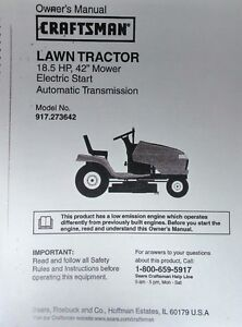 craftsman dyt 4000 lawn tractor manual