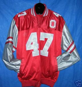brand new 0650d 4aaec Details about OHIO STATE BUCKEYES A J Hawk 47 Jersey Jacket Packers L