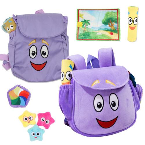 Dora The Explorer Bag Birthday Xmas Gift Preschool Doll Map Nylon Plush Backpack
