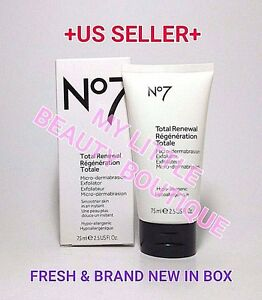 Boots No7 Total Renewal Micro-Dermabrasion Exfoliator 2.5 oz (Pack of 2) 3in1 Multifunctional Wrinkle Removal Skin Lifting Reviving Ultrasound Heat Massage Micro Current Eye Care Beauty Device