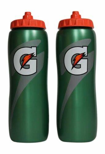 NEW Gatorade Water Bottles 2 Pack Green Squeeze Drink Bottle 1L 32oz