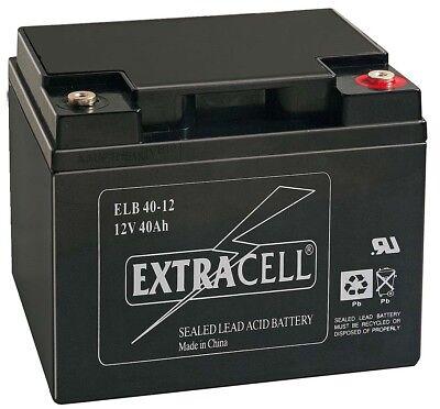Batteria 12v 40a Piombo Gel Ermetica Allarmi Ups Elettronica 44a 42a Carrozzina Funzionalità Eccezionali