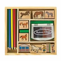 Melissa And Doug Horse Stable Stamp Set , New, Free Shipping