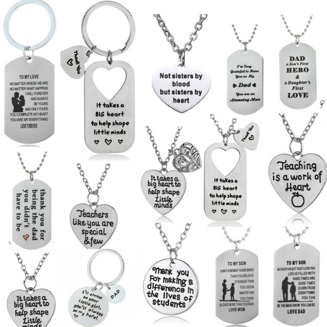 Beauty Dog Tag Necklace Mother Father Daughter Son Best Friend Lover Gift  Family