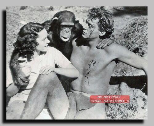 HV-3295 JOHNNY WEISSMULLER MAUREEN O/'SULLIVAN 1932 TARZAN THE APE MAN 8X10 PHOTO