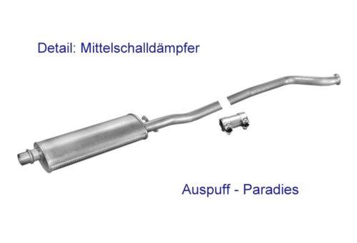 -/> 1999+Kit 97KW Abgasanlage Auspuff Schalldämpfer Peugeot 406 2.0 16V Limo.