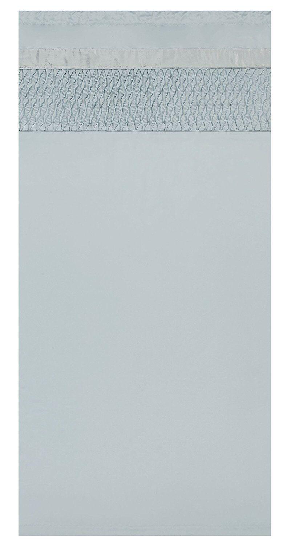 Catherine Lansfield Acolchado Cortinas Duckegg satinado de lujo 66x72