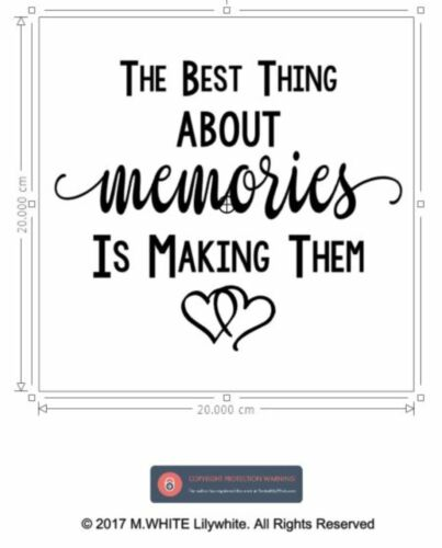 The Best thing about Memories is Making Them Vinyl Sticker for Box Frame//Wall
