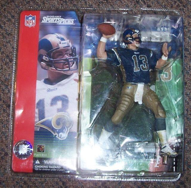 Mcfarlane NFL Series 1 Kurt Warner Blau Variant Action Figure Rare VHTF Rams