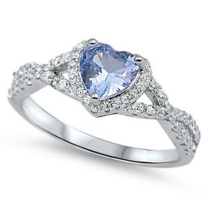 Sterling-Silver-925-HEART-LOVE-KNOT-AQUAMARINE-CZ-PROMISE-RING-8MM-SIZE-4-12