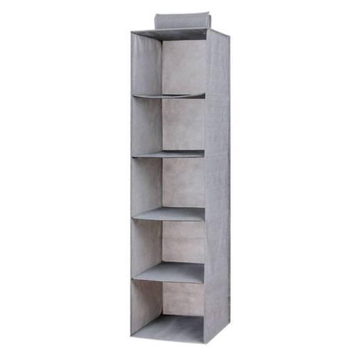 3//4//5 Pockets Hanging Closet Organizer Wardrobe Foldable Clothes Storage Shelves