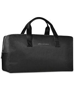 Image Is Loading John Varvatos Black Gray Handle Duffle Weekender Travel