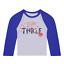 STO Personalizzato Compleanno 3 SPACE Baseball Top terzo compleanno personalizzata Rocket