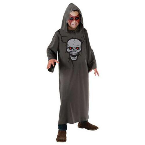 Boys Grim Reaper Devil Demon Skull Fancy Dress Halloween Costume Age 7-14 years
