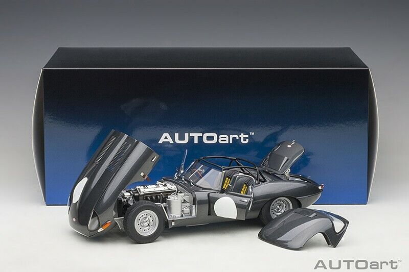 Autoart JAGUAR LIGHTWEIGHT E-TYPE DARK grau 1 18 Scale New Release