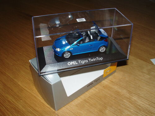 Opel Tigra TT Modellauto 1:43 antiguablau metallic