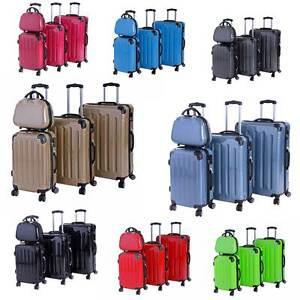 Koffer Trolley Reisekoffer Hartschalenkoffer M-L-XL 3er/4er Set mit Doppelrollen