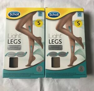 Scholl Light Legs Compression Tights for Women Black 60 /& Nude 20 Small X2