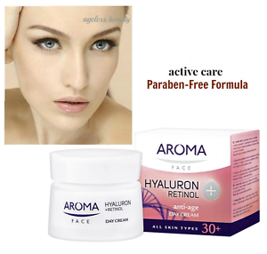 RETINOL-A-Anti-Ageing-Cream-Pure-HYALURONIC-ACID-Wrinkle-Collagen-Firm-50-ml