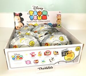 Disney-Tsum-Tsum-Series-12-Complete-Set-Of-8-Mystery-Blind-Bag-Packs-Gold-Mickey