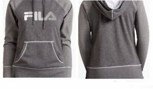 Details about Women's Fila Hoodie Dark Greymedium Grey New With Tags Activewear