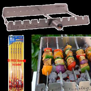 Rotisserie Kit pour brûleur à gaz Grill avec moteur commande Rotateur /& Free brochettes
