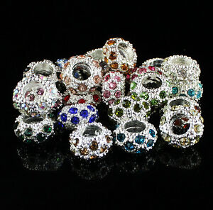 Czech-Crystal-Big-Hole-Spacer-Charm-Beads-For-European-Bracelet-Making-Wholesale