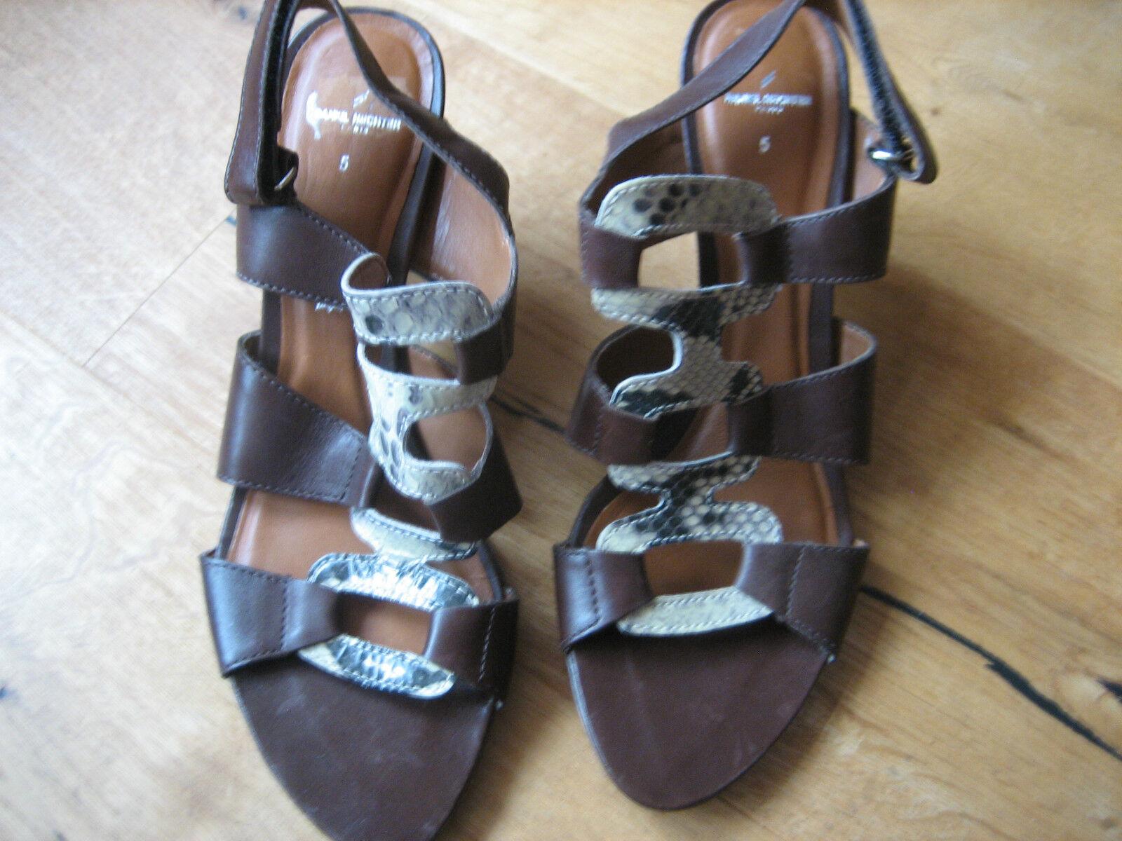 Daniel Hechter Sandale Pumps braun Größe 5