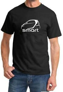 Smart-Fortwo-Classic-Car-Outline-Design-Tshirt-NEW
