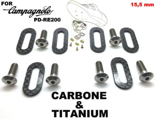 CAMPAGNOLO lighter/&stronger 6 shoe plates in Carbone 6 screws in Titanium !!