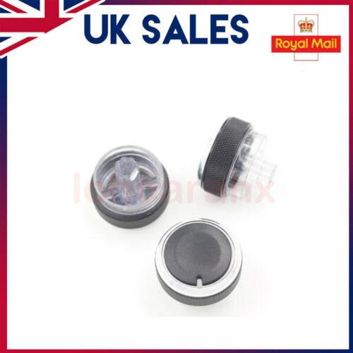 Noir Aluminium Chauffage Boutons Boutons Set pour Ford Focus//C-Max//S-MAX//St-UK