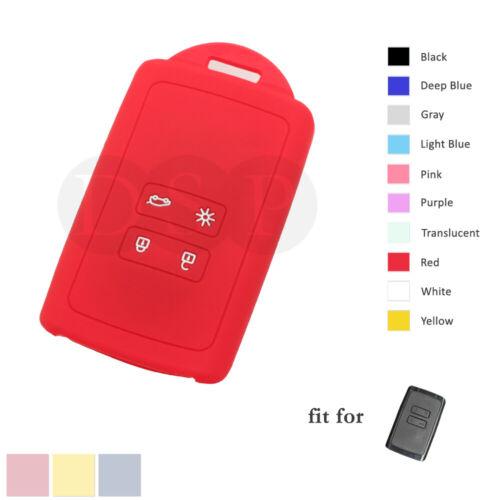 Silicone Case Cover fit for RENAULT Megane Koleos Kadjar Captur Remote Key 4B RD