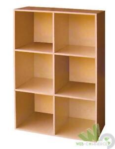 Libreria cubo 6 vani scaffale ripiani col ciliegio cm for Libreria ufficio