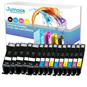 Lot-de-15-cartouches-jet-d-039-encre-type-Jumao-compatibles-pour-Canon-Pixma-TS6052